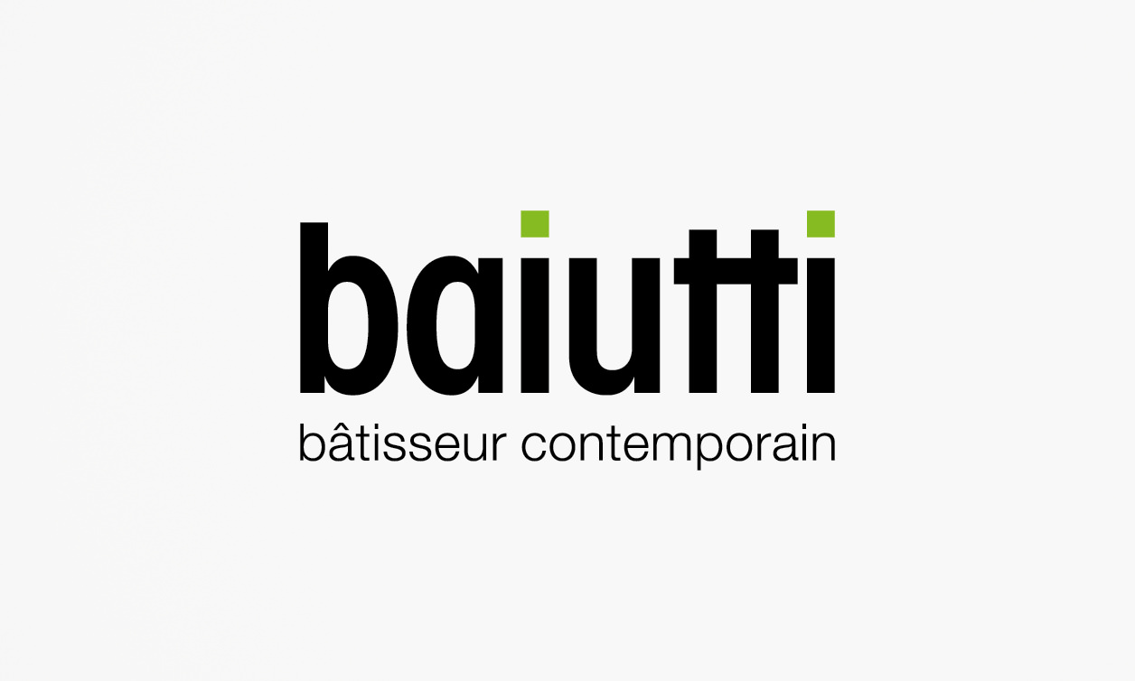 Baiutti corporate identity logo entreprise générale construction