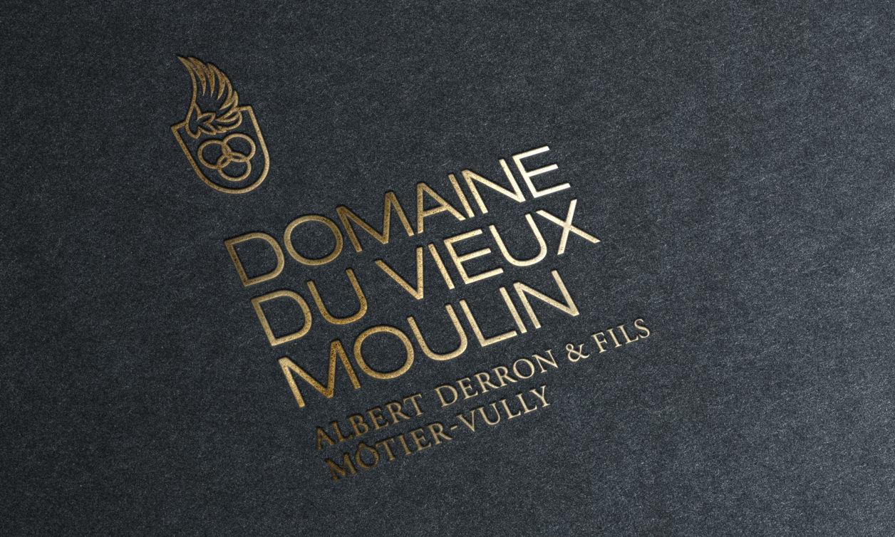 Domaine du Vieux Moulin corporate identity logo