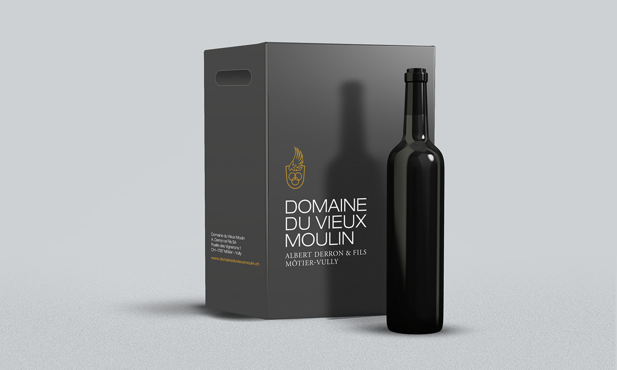 Domaine du Vieux Moulin packaging vin vully