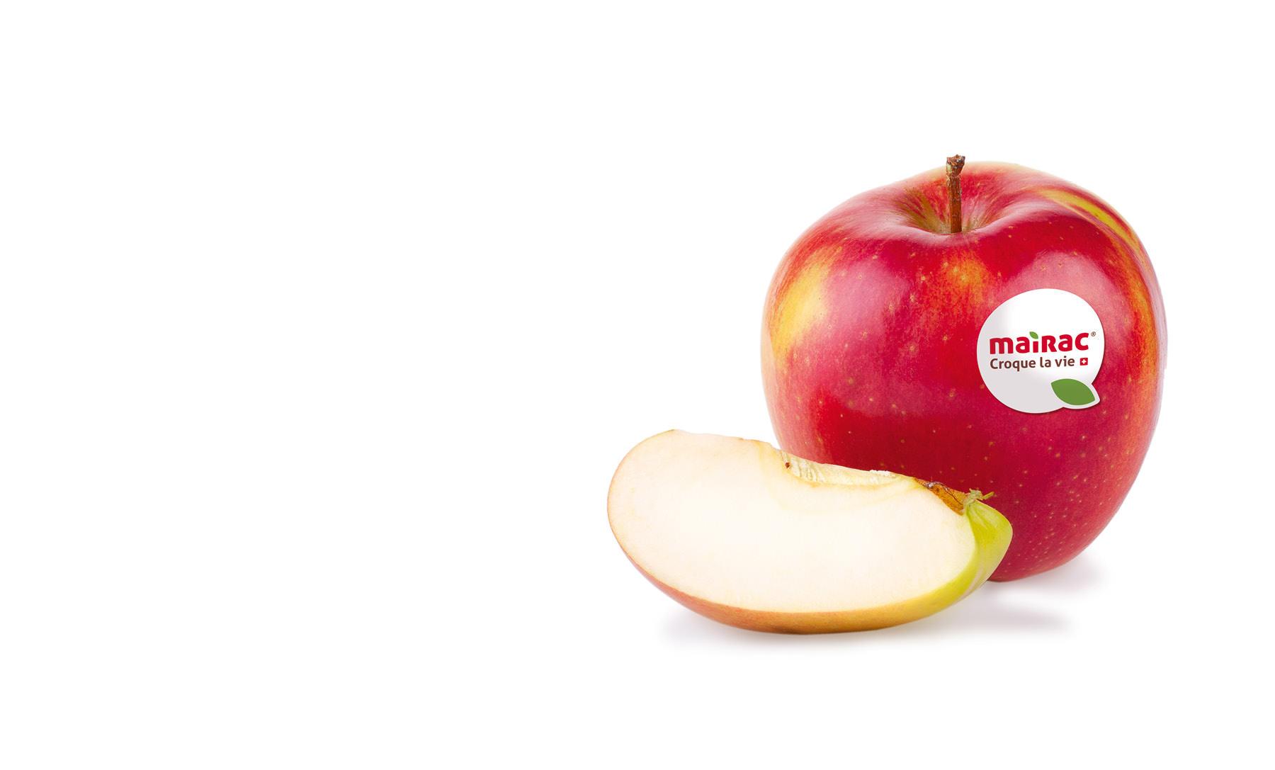 Mairac Croque la vie logo pomme