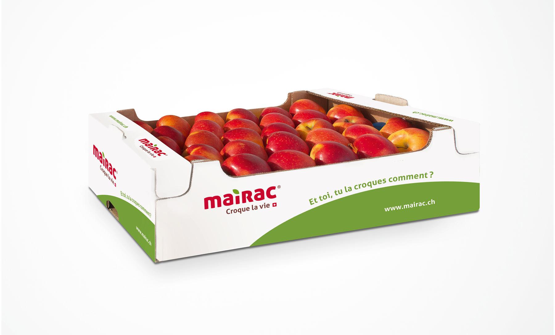 Mairac Croque la vie logo pomme packaging
