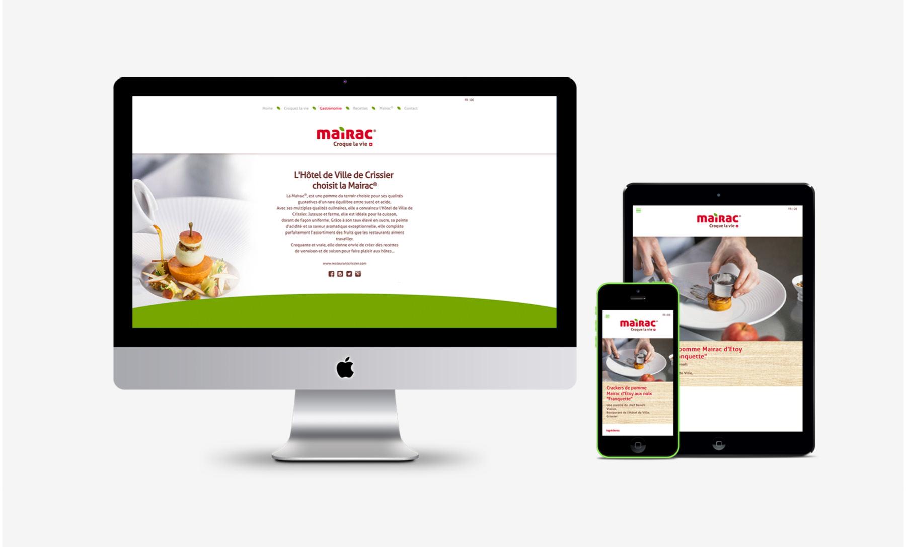 Mairac Croque la vie logo pomme site internet