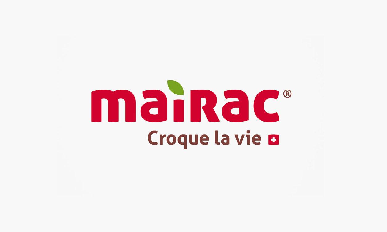 Mairac Croque la vie logo pomme publicité