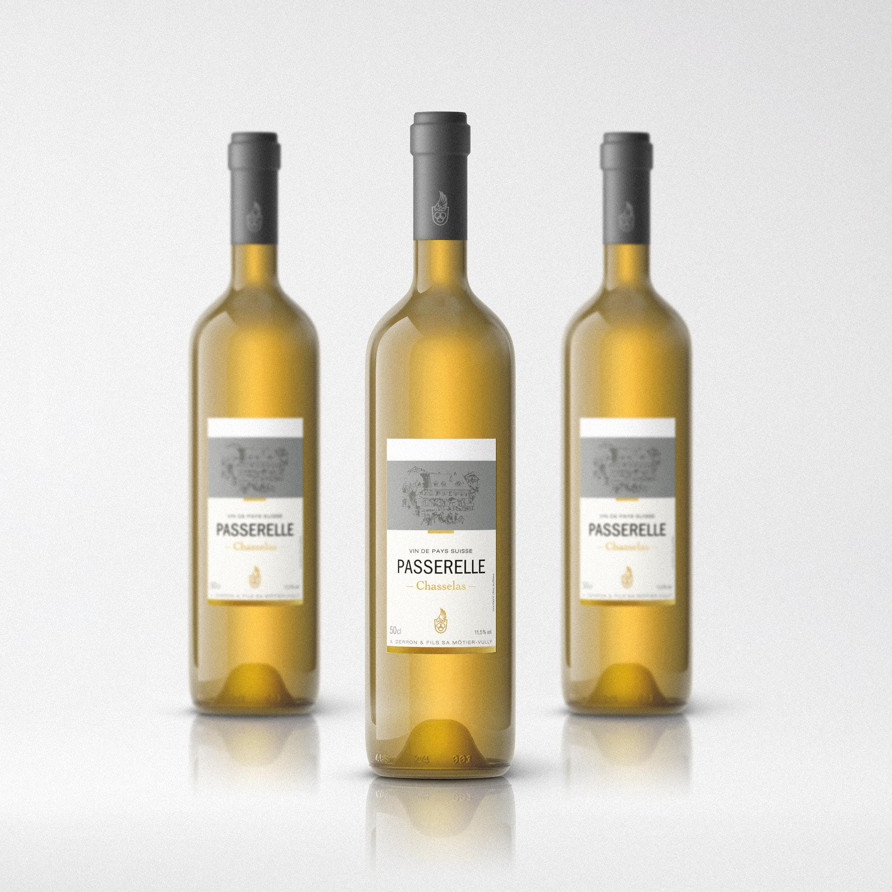 derron vin étiquette passerelle
